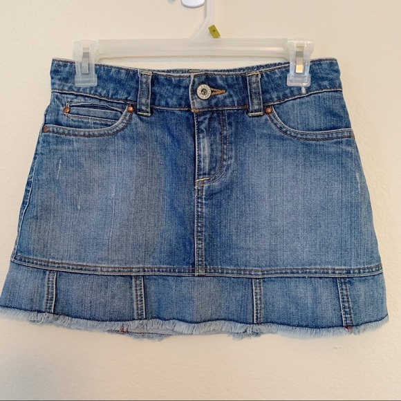 Old Navy Dresses & Skirts - Old Navy | Denim Mini Skirt Low Waist with Flare